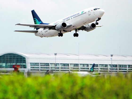A Garuda Indonesia airplane takes off from Soekarno-Hatta International Airport. Bloomberg file photo
