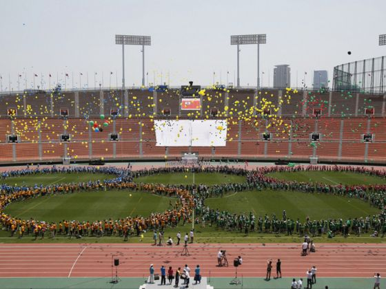 An event last year to bid farewell to Tokyo's National Olympic Stadium. The city is in dispute with the government over who should pay for the new stadium. Photo: REUTERS