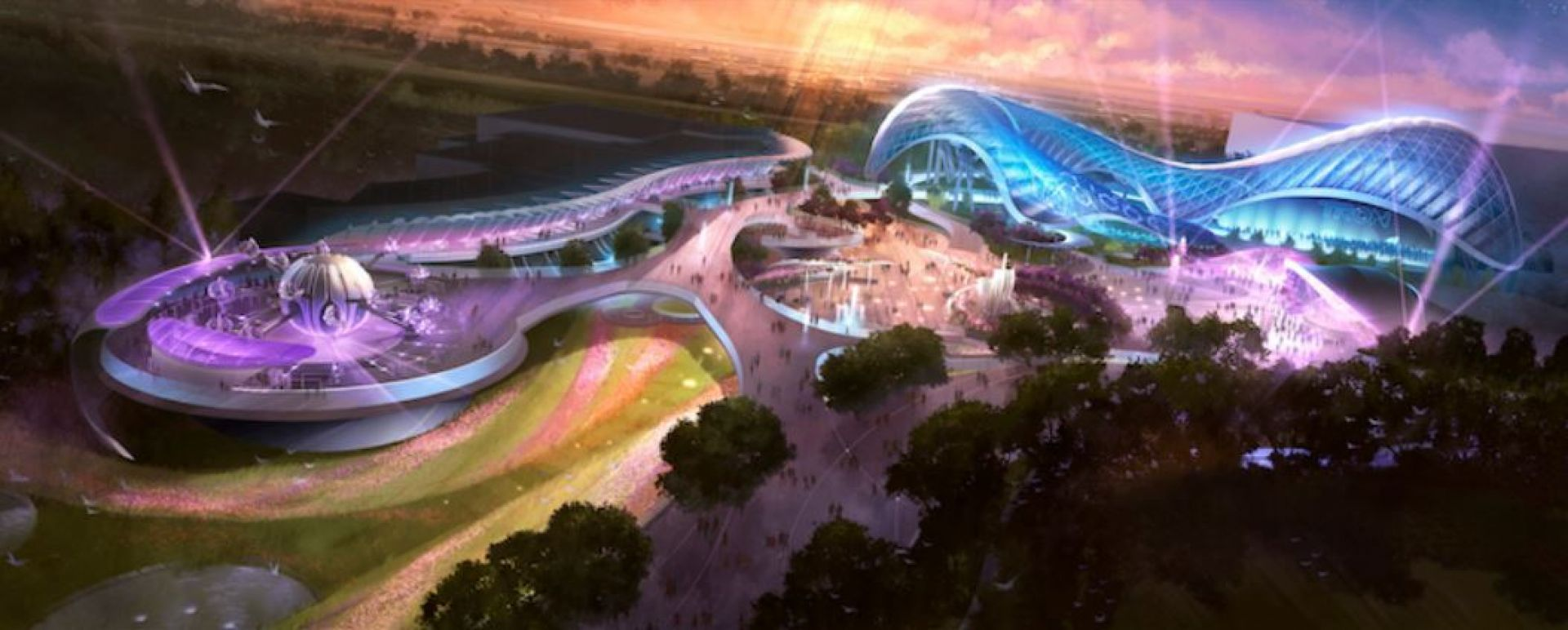 Tomorrowland, one of the six themed lands to open in Shanghai Theme Park in 2016. Photo: Disney Parks Blog