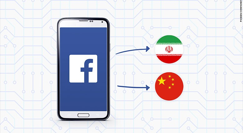 Android users can now use Tor to connect to Facebook. It avoids network censors -- which means mobile users in Iran and China can now use Facebook on smartphones. Image source: CNN Money