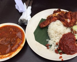 Village Park Restaurant, Nasi Lemak with Fried Chicken, the most famous in the town ? Delicious (sedap)?