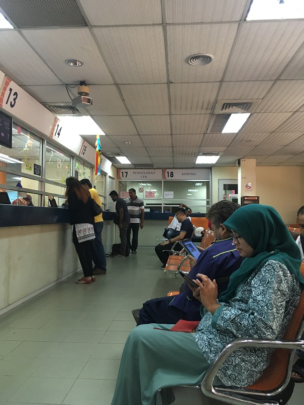 JPJ waiting area