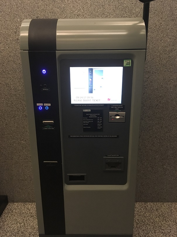 Platinum Park Autopay Machine