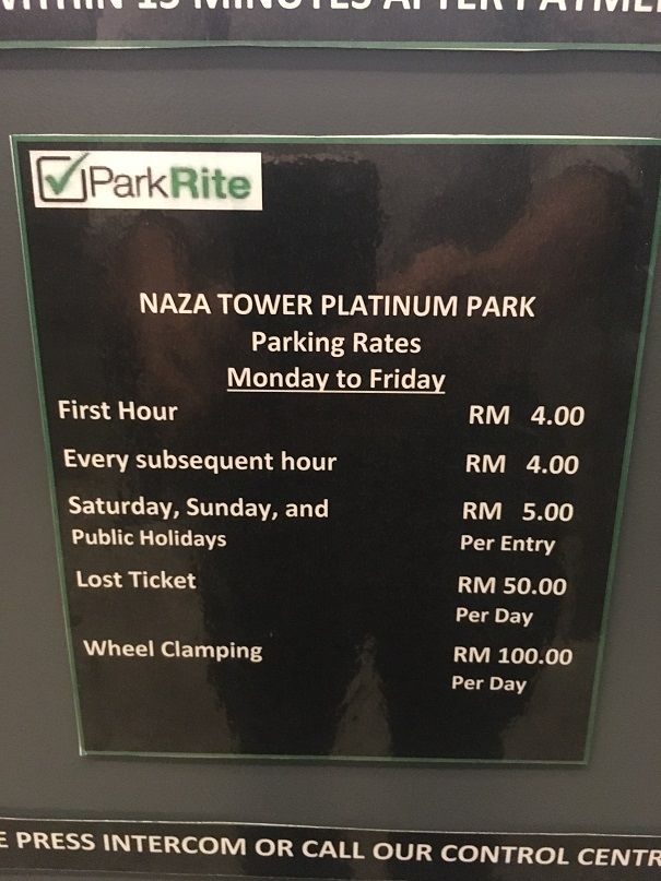 Platinum Park Parking Rate