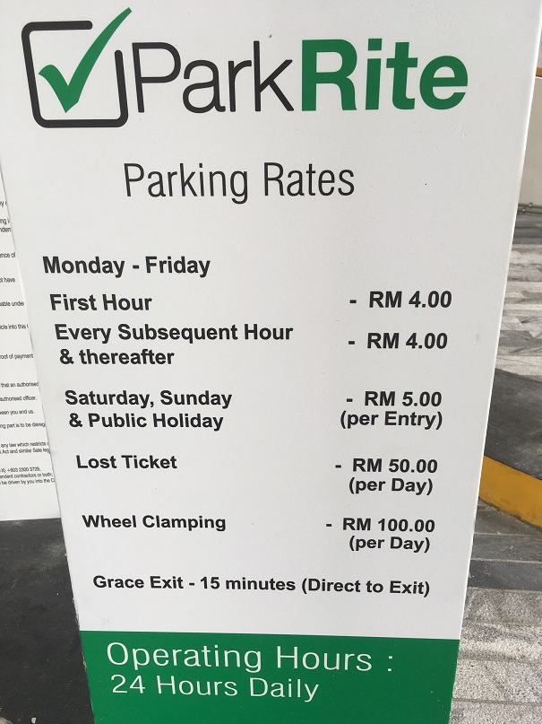 Platinum Park Parking Rates