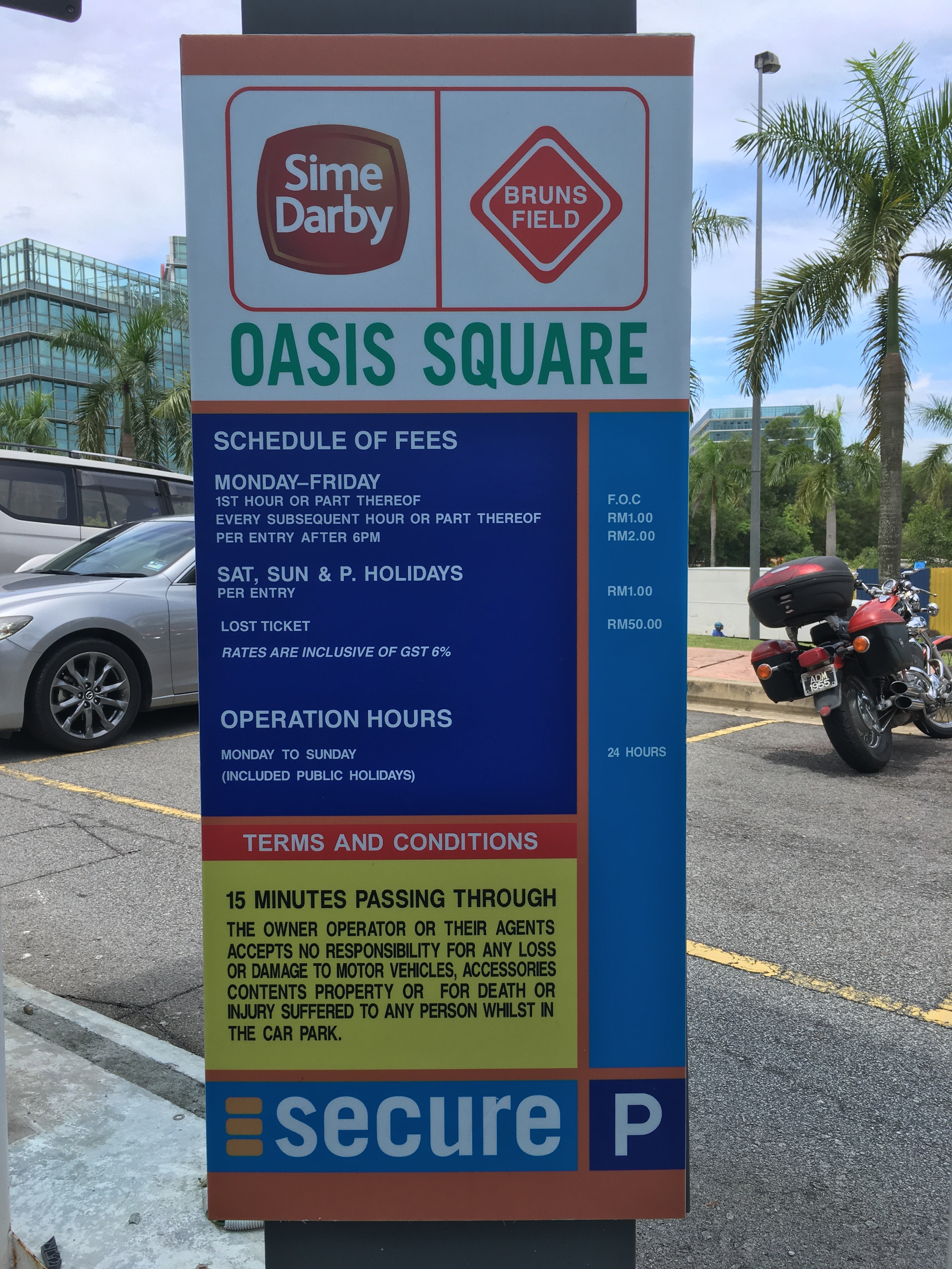 Oasis Square Parking Rate