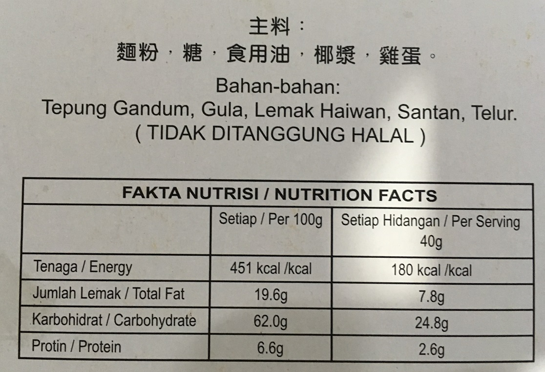 Sin Eng Hoe Ingredient