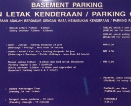 Solaris Dutamas Publika Parking Rate