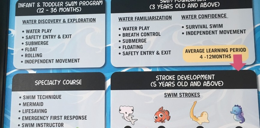 Swim Course Progression Chart