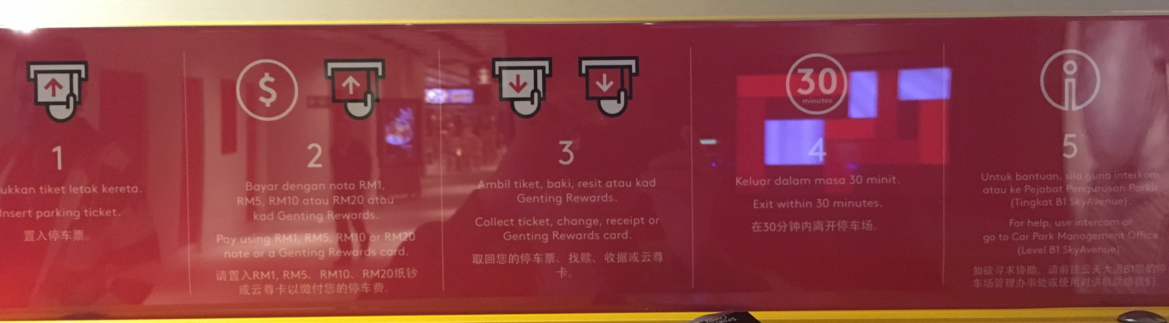 Resorts World Genting Parking Fees