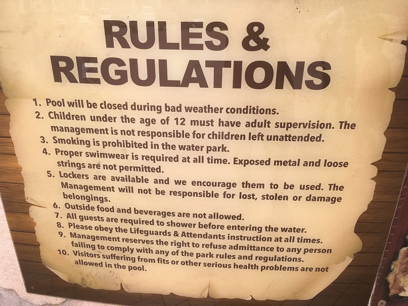 Wet World Rules & Regulations